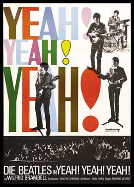 A Hard Day's Night - 27 x 40 Movie Poster - German Style A