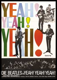 A Hard Day's Night - 43 x 62 Movie Poster - German Style A
