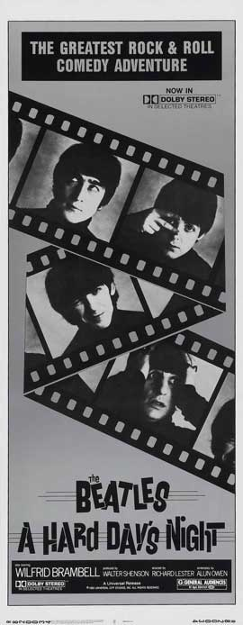 A Hard Day's Night - 14 x 36 Movie Poster - Insert Style B