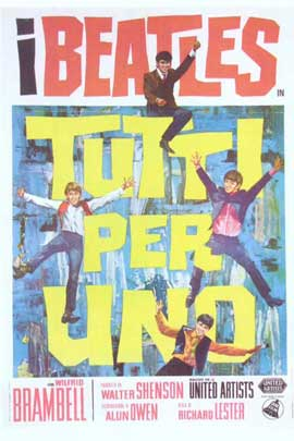 A Hard Day's Night - 27 x 40 Movie Poster - Italian Style A