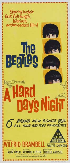 A Hard Day's Night - 13 x 30 Movie Poster - Australian Style A