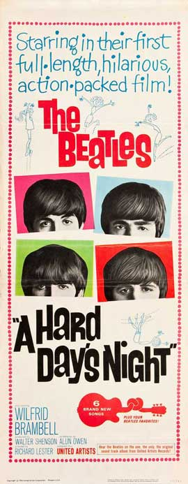 A Hard Day's Night - 14 x 36 Movie Poster - Insert Style C