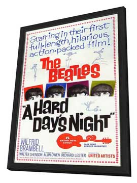 A Hard Day's Night - 11 x 17 Movie Poster - Style F - in Deluxe Wood Frame