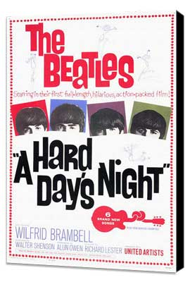 A Hard Day's Night - 11 x 17 Movie Poster - Style A - Museum Wrapped Canvas