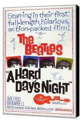 A Hard Day's Night - 11 x 17 Movie Poster - Style F - Museum Wrapped Canvas