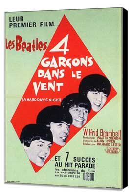 A Hard Day's Night - 11 x 17 Movie Poster - French Style A - Museum Wrapped Canvas