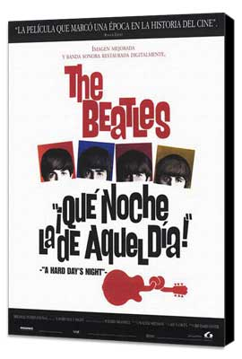 A Hard Day's Night - 11 x 17 Movie Poster - Spanish Style A - Museum Wrapped Canvas