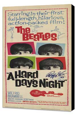 A Hard Day's Night - 14 x 36 Movie Poster - Insert Style A - Museum Wrapped Canvas