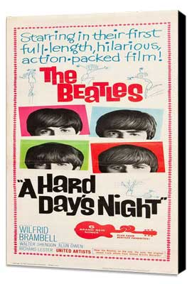 A Hard Day's Night - 14 x 36 Movie Poster - Insert Style C - Museum Wrapped Canvas