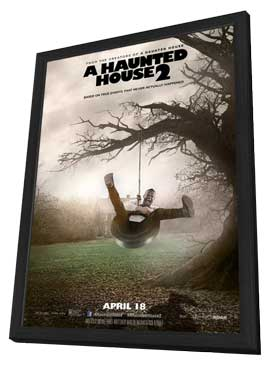 A Haunted House 2 - 11 x 17 Movie Poster - Style B - in Deluxe Wood Frame