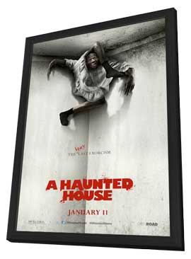 A Haunted House - 27 x 40 Movie Poster - Style A - in Deluxe Wood Frame