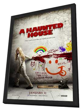 A Haunted House - 11 x 17 Movie Poster - Style B - in Deluxe Wood Frame