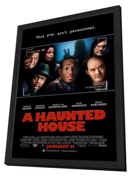 A Haunted House - 27 x 40 Movie Poster - Style C - in Deluxe Wood Frame