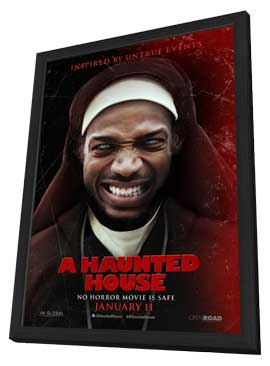 A Haunted House - 11 x 17 Movie Poster - Style D - in Deluxe Wood Frame