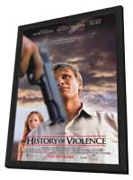 A History of Violence - 11 x 17 Movie Poster - Style A - in Deluxe Wood Frame