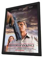 A History of Violence - 27 x 40 Movie Poster - Style A - in Deluxe Wood Frame