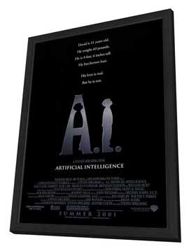 A. I.: Artificial Intelligence - 27 x 40 Movie Poster - Style A - in Deluxe Wood Frame