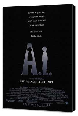 A. I.: Artificial Intelligence - 27 x 40 Movie Poster - Style A - Museum Wrapped Canvas