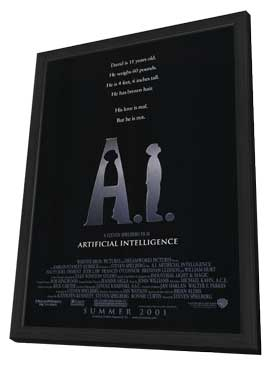 A. I.: Artificial Intelligence - 11 x 17 Movie Poster - Style A - in Deluxe Wood Frame