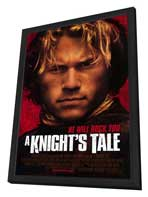 A Knight's Tale - 27 x 40 Movie Poster - Style A - in Deluxe Wood Frame