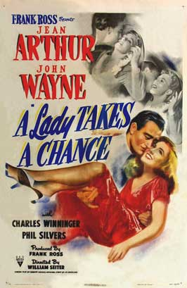 A Lady Takes a Chance - 11 x 17 Movie Poster - Style C