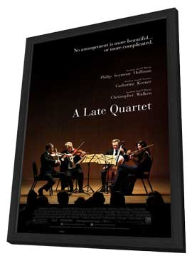 A Late Quartet - 27 x 40 Movie Poster - Style A - in Deluxe Wood Frame