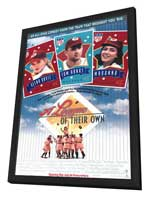 A League of Their Own - 11 x 17 Movie Poster - Style A - in Deluxe Wood Frame