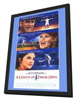 A League of Their Own - 11 x 17 Movie Poster - Style C - in Deluxe Wood Frame