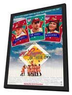 A League of Their Own - 27 x 40 Movie Poster - Style A - in Deluxe Wood Frame