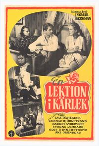 Lesson in Love - 11 x 17 Movie Poster - Swedish Style B