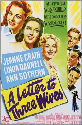 A Letter to Three Wives - 11 x 17 Movie Poster - Style A