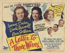A Letter to Three Wives - 11 x 14 Movie Poster - Style A