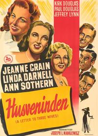 A Letter to Three Wives - 11 x 17 Movie Poster - Danish Style A
