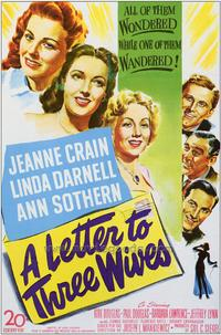 A Letter to Three Wives - 43 x 62 Movie Poster - Bus Shelter Style A