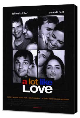 A Lot Like Love - 27 x 40 Movie Poster - Style A - Museum Wrapped Canvas