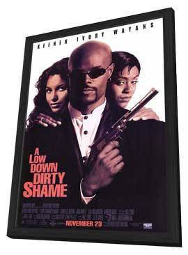A Low Down Dirty Shame - 11 x 17 Movie Poster - Style B - in Deluxe Wood Frame