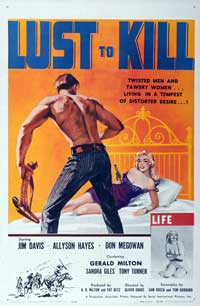 Lust to Kill, A - 27 x 40 Movie Poster - Style A