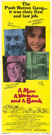 A Man, a Woman, and a Bank - 27 x 40 Movie Poster - Style A