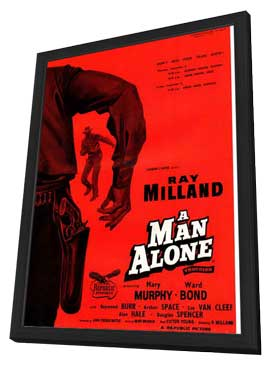A Man Alone - 27 x 40 Movie Poster - UK Style A - in Deluxe Wood Frame