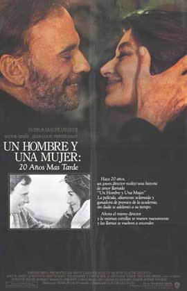 A Man and a Woman: 20 Years Later - 11 x 17 Movie Poster - Spanish Style A