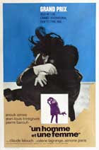 Man and a Woman, A - 11 x 17 Movie Poster - French Style B