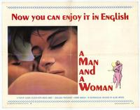 Man and a Woman, A - 22 x 28 Movie Poster - Half Sheet Style A