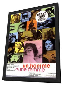 Man and a Woman, A - 11 x 17 Movie Poster - French Style A - in Deluxe Wood Frame