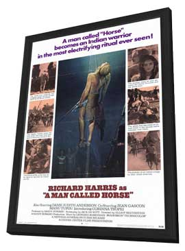A Man Called Horse - 11 x 17 Movie Poster - Style A - in Deluxe Wood Frame