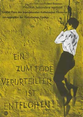 A Man Escaped - 11 x 17 Movie Poster - German Style A