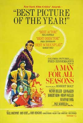 A Man for All Seasons - 27 x 40 Movie Poster - Style B