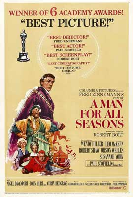 A Man for All Seasons - 27 x 40 Movie Poster - Style D