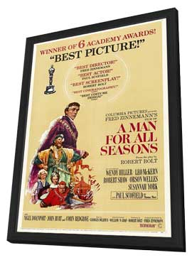 A Man for All Seasons - 11 x 17 Movie Poster - Style D - in Deluxe Wood Frame