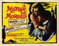 Matter of Morals - 22 x 28 Movie Poster - Half Sheet Style A