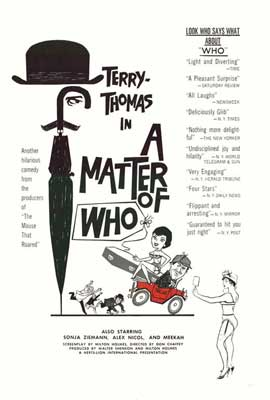 A Matter of WHO - 27 x 40 Movie Poster - Style A